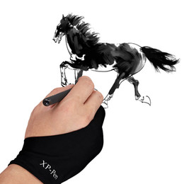 Wholesale XP Pen Artist Anti fouling Lycra Glove for Drawing Tablet Display Copy board led light box Tracing Light Pad free size