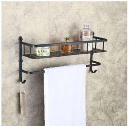 Wall Mounted Oil Rubbed Bronze Bath Shelf Single Lever Towel Bar W  Towel Hooks