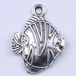 2016New fashion silver retro Fish Beads Manufacture DIY lovely fish jewelry pendant fit Necklace or Bracelets charm 500pcs lot 1825y