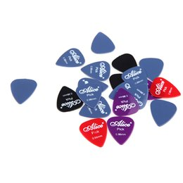 Wholesale 20pcs set Alice mm Smooth Nylon Guitar Picks Plectrums Suitable for Guitar and Bass practice