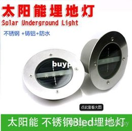 Wholesale Best price Solar Stainless Steel LED underground light Ground Landscape Garden Light buried lamp buried light pcsA1A