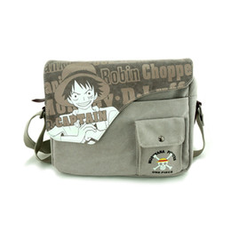 Rebajas venta al por mayor honda bolsos Venta al por mayor-Anime One Piece Sling Pack Canvas Carácter Messenger Bolso Messenger Bag Cosplay