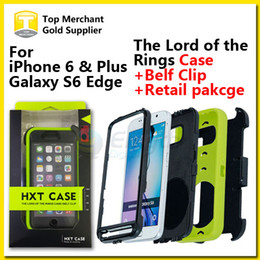 Wholesale iPhone S Note S6 Edge Hybrid HXT Case The Rings TPU Case Belt Clip Armored Scale Cover Degrees Swivel Kickstand with Package