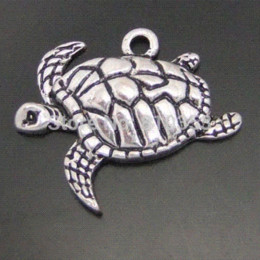 Wholesale 03919 Antiqued Silver Tone Alloy Lovely Acrawl Sea Turtle Fashion Jewelry Finding Pendant Charms charms amore