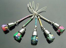 Wholesale Aroma Cellphone Straps Assorted Designs Name On Rice Vial Jewelry glass rice vials Fashion Jewelry Accessory