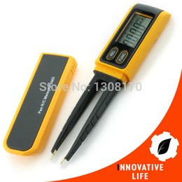Wholesale Handheld Tweezers Digital Resistance Capacitance Diode Tester Pen Multimeter Meter R C SMD max Reading
