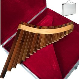 Wholesale Pipes Professional bamboo PanFlute Curved Handmade Panpipes flauta xiao Musical Instrument Pan flute send Aluminium alloy box