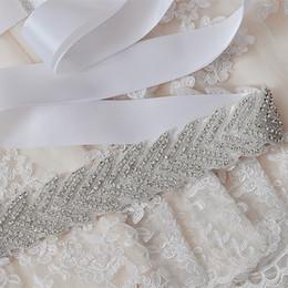 Wholesale White Luxury Bling Bridal Sashes Belts Fashion wedding dress sashes beads Sinning Rhinestones wedding belt bridal accessory W6821