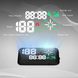 Wholesale Universal GPS Car HUD Head Up Display KM h MPH Speeding Warning Windshield Project System GPS Direction Cigarette Lighting Port K3389