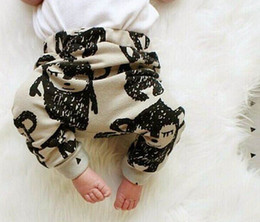 Wholesale Baby Pants Boys Girls Cartoon Tiger Monkey Pineal Bear Print Thin Pants Baby Cotton Pants T