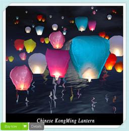 Velas de cumpleaños barcos en Línea-100 piezas / porción linternas chinas del cielo del fuego de la mosca de la lámpara de la vela de la linterna del banquete de boda del cumpleaños del envío Wish lámpara linternas del cielo Gratis