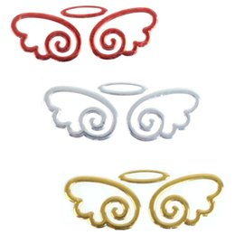 Wholesale cheap classic cool styling angel wings angel wings metal sticker wholesale mixed batch