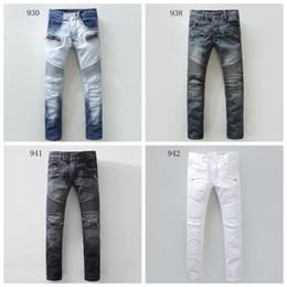 Wholesale new coming brand balmain jeans for men designer brand denim biker men balmans jeans famous brand high quality true jeans Plus size