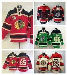 Chicago Blackhawks 65 Andrew Shaw Old Time Hooded Beige Red Green Black Ice Shaw Blackhawks Pullover Sweatshirt Hockey Hoodies