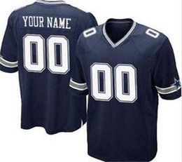 Wholesale Customize Men s Elite cowboys Player Jerseys Collection Color Blue White Thanksgiving Size M XL Top Quality