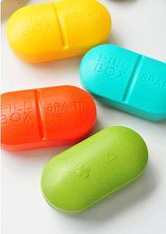 Wholesale 6 Compartment Travel Pill Box pc Candy color Mini Pill Box Medicine Case Organizer Fashional Designed