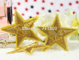 Wholesale Golden Star iron on patch animated cartoon patches clothing accessories Embroidered kids girl stickers