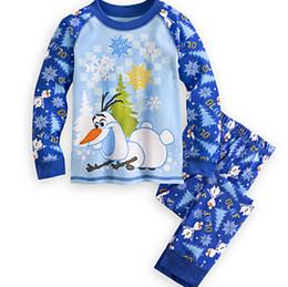 Bébés garçons filles Frozen Pyjamas Ensembles Olaf Snowman Pyjamas Kids Cartoon Enfants d'été et d'automne Vêtements en coton 2piece Suit DHL Gratuit Date à partir de nouvelle filles vêtements fournisseurs