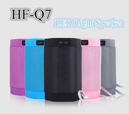 HF-Q7 Mini LED Light Wireless Bluetooth Speaker Portable Sound Box Support TF USB Audio Players