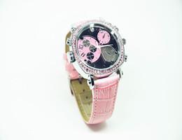 Mini grabador de vídeo resistente al agua en Línea-Alta cámara del reloj Calidad Mujer Rosa impermeable HD1080P versión nocturna infrarroja cámara oculta espía 8GB 16GB mini grabadora de vídeo 206 Reloj digital