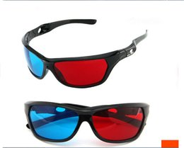 Wholesale Universal Type Red Blue Plasma TV Movie Dimensional Anaglyph Video Framed D Vision Glasses D DVD Game Glass MOQ