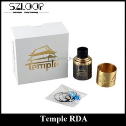 Wholesale Wide Bore Temple RDA Clone Kit mm Diameter Rebuidable Dripping Atomizer Post DIY Deck with Peek Insulator Extra Ring