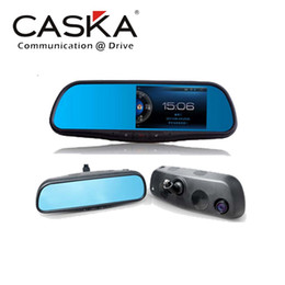 Wholesale car dvr New quot Caska X Mirror World Best Smart Rearview Canera Car GPS Navi HD DVR Camera All In One System Rearview GPS Navigation