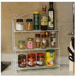 Wholesale The kitchen metal shelf floor console table condiments receive a shelf The bathroom toilet shelf in