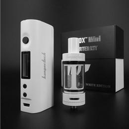 Kanger SuBox Mini Starter Kits Black and White 10~60w kangertech KBox Mod and subtank mini Atomizer Kit DHL free