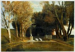 Wholesale The Sacred Wood by Arnold Bocklin High Quality Wall Pictures for Living Room H