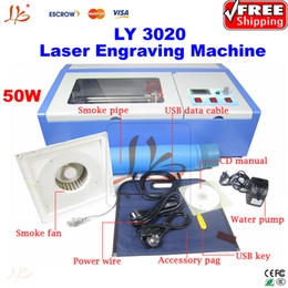 Wholesale co2 laser engraving machine W USB laser engraver With honeycomb board