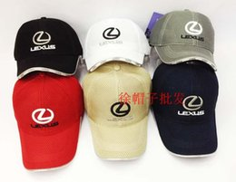 Wholesale baseball hat with inwrought Lexus Car Logo picture sunbonnet for F1 motor racing with air hole sport peaked cap
