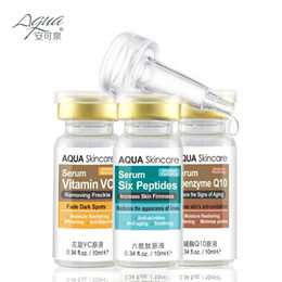 Wholesale Skin care Vitamin VC serum and Six Peptides Serum and coenzyme Q10 serum Acne Treatment Whitening Face Care Ageless Beauty