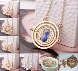 Wholesale 2015 Best sales Harry Potter time turner necklace Hermione Granger s k Yellow plated girlfriend gift boutique necklace