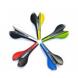 Wholesale Ultralight Saddle Seat for Fixed Gear Bikes Green Carbon Saddle Bicycle Seat Brand New Comfort Saddles E4