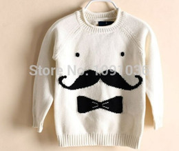 Wholesale New Autumn Winter Girls Boys White Sweater Boys Sweatercoat kids avanti Beard sweater Boys cardigan ages