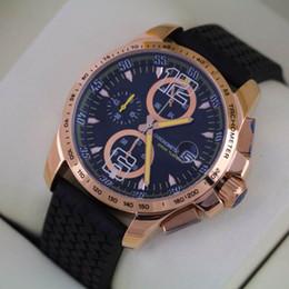 Luxury Men Quartz Chronograph Watch Rubber Rose Gold Grans Turismos GTS XLS Date Stopwatch Stainless Fashion Mens Wristwatches For Man Sport