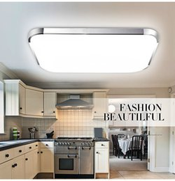 Wholesale Wholsale W W W W Modern Square LED Ceiling Light Living Dining Room Bedroom Corridor Lamp V