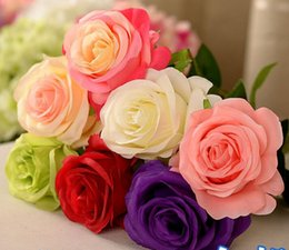 Silk roses Artificial Rose Silk Craft Flowers For Wedding Christmas Room Decoration bouquet wedding decorations maqny color for choose