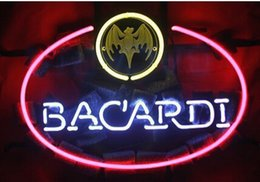 Wholesale Cuban Bacardi Limited Rum Liquor Neon Sign Lighting Company Sign Bar Dsico Hotel Motel KTV Handcrafted Real Glass Tube Custom Sign quot X13 quot