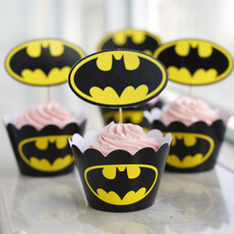 Batman Halloween Type Bulk 24 pcs lot Muffin Cupcake Decoration Cupcake Liners Cases Wrappers Free Shipping