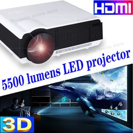 """Free shipping 2015 new HD 3D led video 1080P 5500lumen projector Free gift 100""""screen Full HD Led blh Projector"""