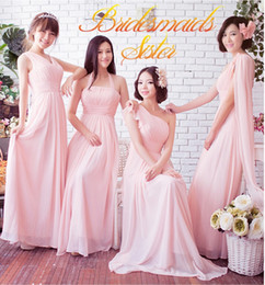Elegant Mix 6 Style Real Photos Chiffon Sweetheart Strapless Ruffle A-line Bridesmaid Dresses Formal Dresses Custom Made Under $50