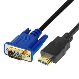 Wholesale 1 M HDMI Male to SVGA VGA M Converter A V Cable Lead