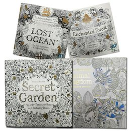 Wholesale Prettybaby Secret Garden An Inky Treasure Hunt and Coloring Books Graffiti Painting Drawing Book Relieve Stress Kill Time page Pt0178 ex