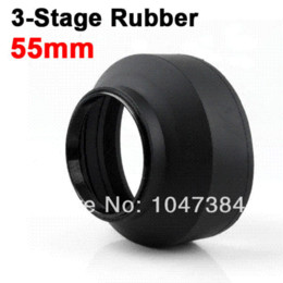 Wholesale 100 NEW Lens Hood mm MM Rubber in1 stage Collapsible Foldable Protect for Canon for Nikon Camera Lens