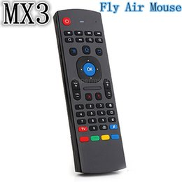 Wholesale 15PCS X8 GHz Double keyboard Wireless MX3 M Air Mouse Without Voice Input IR Remote Control For X96 S905X S912 Smart Android TV