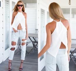 Wholesale Summer Camis Black White Women s Tanks Tops Femme Roupas Femininas Cropped Camisole Regatas Tropical Crop Top Camis Tops Blouse Chemise