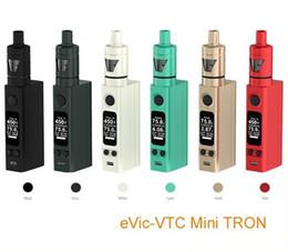 Evic vtc à vendre-Original Kit Joyetech Evic VTC avec 75w Evic vtc Mini Mod 4ml Tron-s Atomiseur Tron-t ECigarette VS Kanger Subox Mini Kit