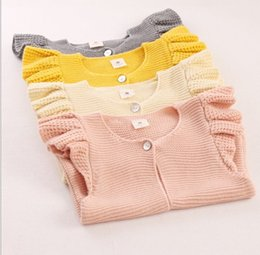 Wholesale Childrens Cardigan Sweaters Wholesale - 2016 New Spring Baby Girls Clothes Waistcoats Vest Sweater Fashion Childrens Prubcess for Kids Clothing DB-95